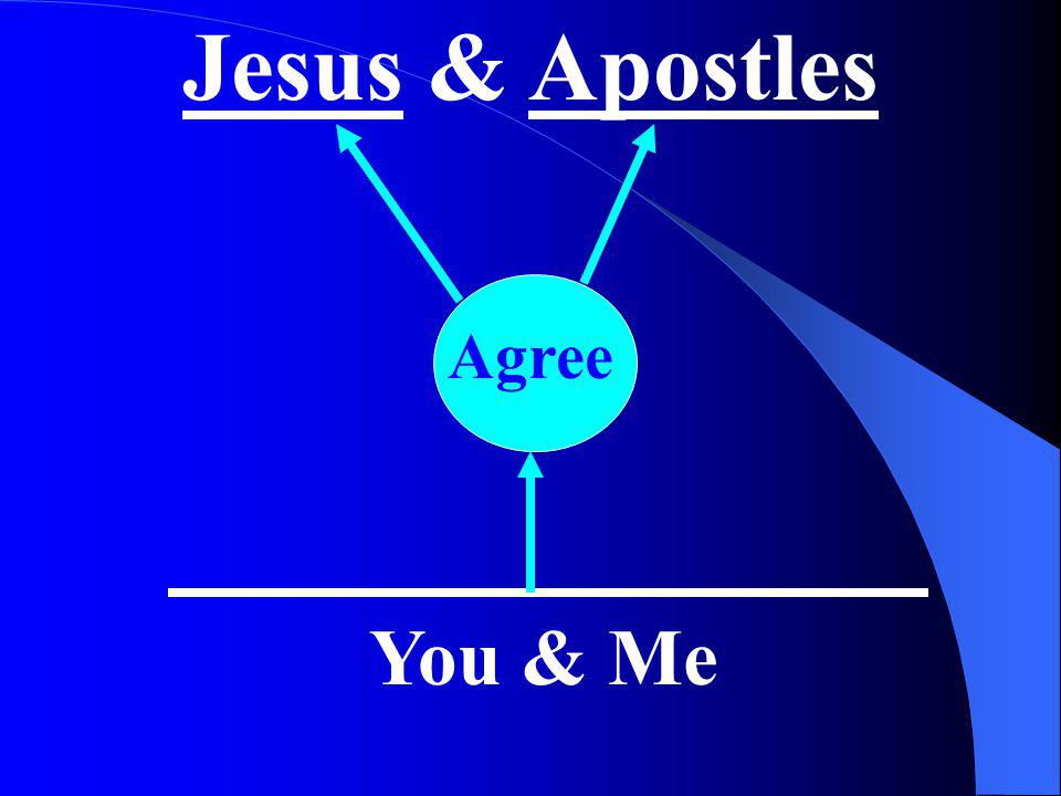 Jesus & Apostles Agree You & Me