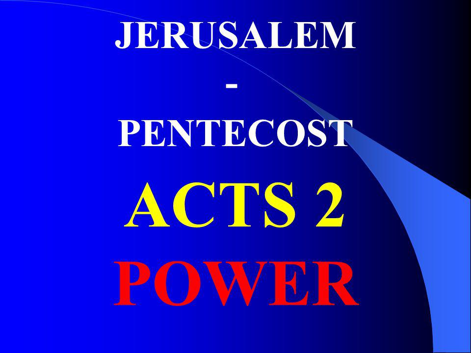 JERUSALEM - PENTECOST ACTS 2 POWER