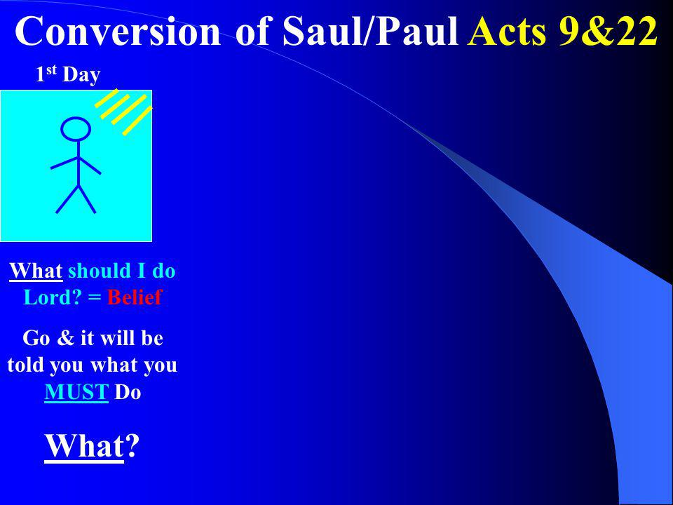 Conversion of Saul/Paul Acts 9&22