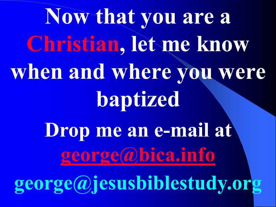 Drop me an e-mail at george@bica.info
