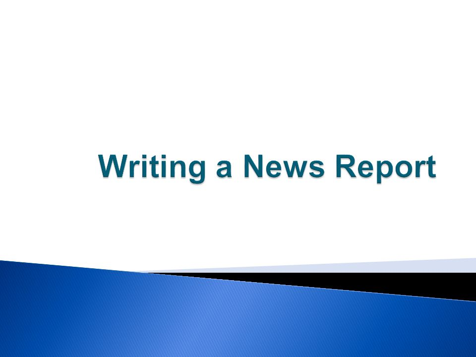 Radio News Reporting - PowerPoint PPT Presentation