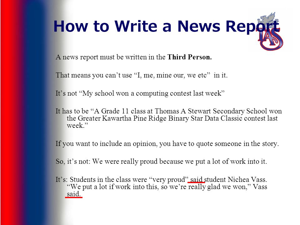 what to write a newspaper article about