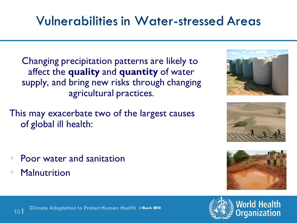 Vulnerabilities in Water-stressed Areas