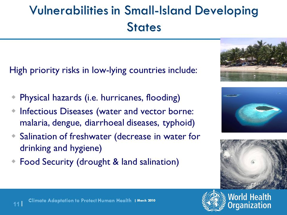 Vulnerabilities in Small-Island Developing States