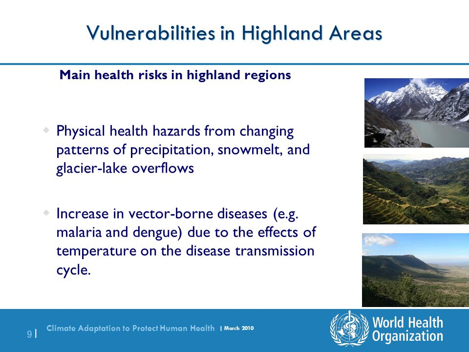 Vulnerabilities in Highland Areas