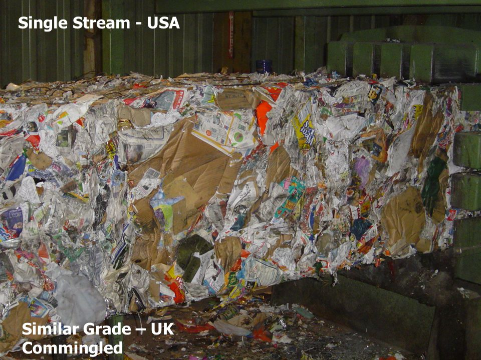 Single Stream - USA Similar Grade – UK Commingled
