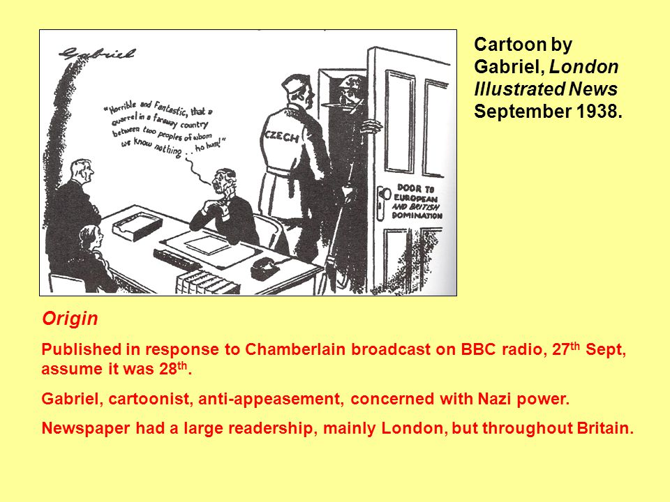 Cartoon by Gabriel, London Illustrated News September 1938.