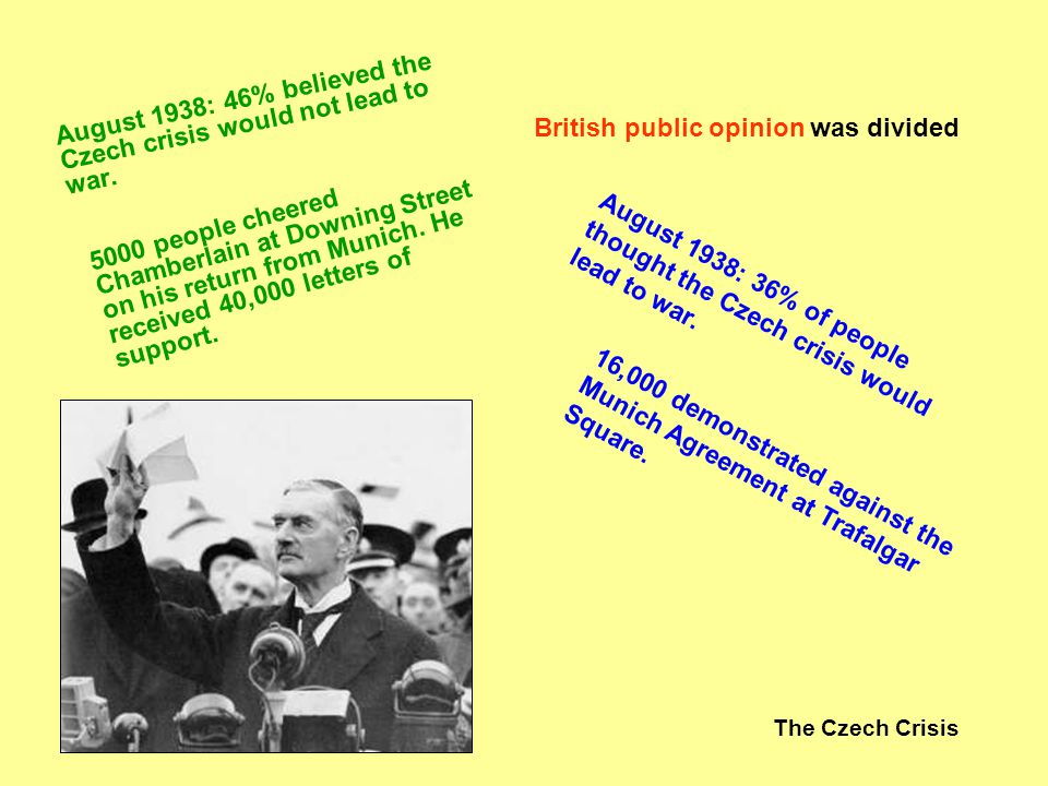 British public opinion was divided