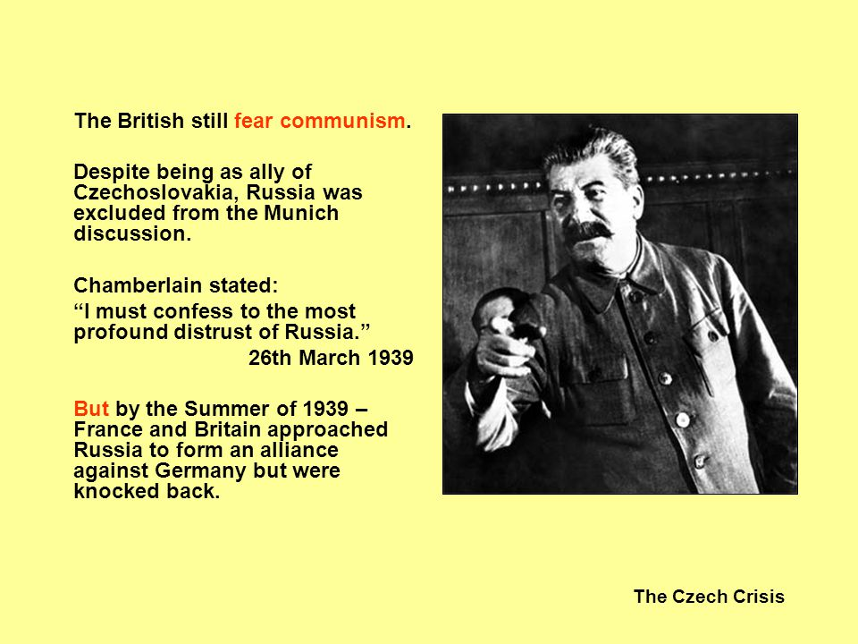 The British still fear communism.