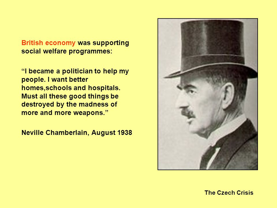 British economy was supporting social welfare programmes: