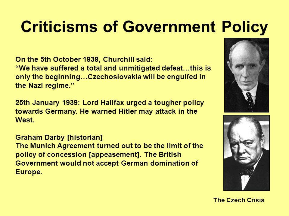 Criticisms of Government Policy