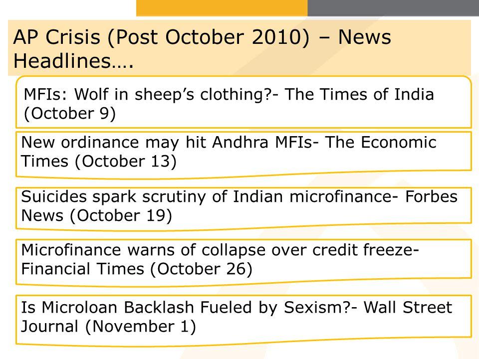 AP Crisis (Post October 2010) – News Headlines….