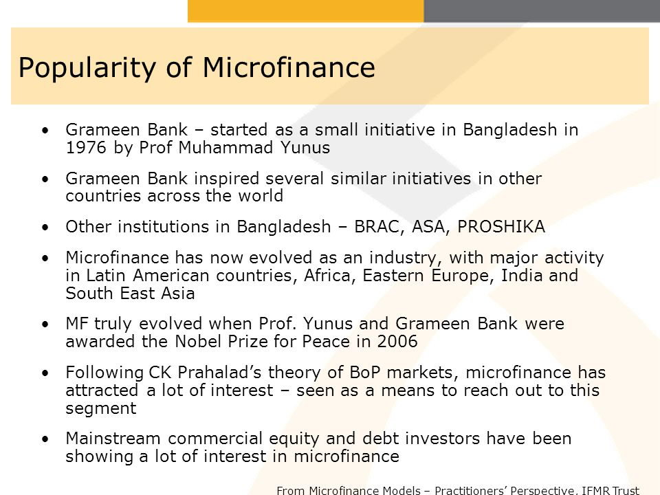 Popularity of Microfinance