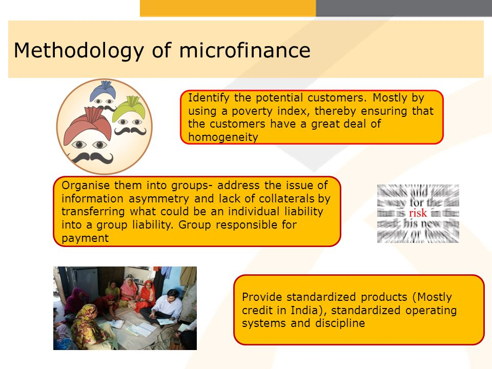 Methodology of microfinance
