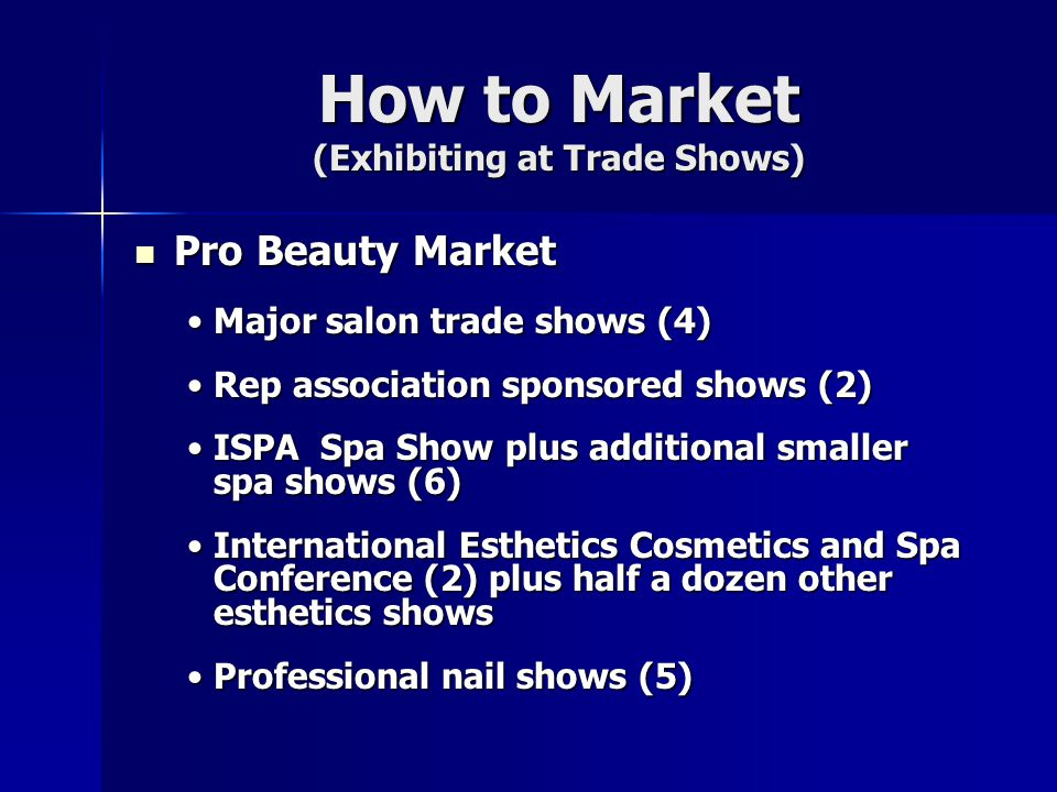How to Market (Exhibiting at Trade Shows)
