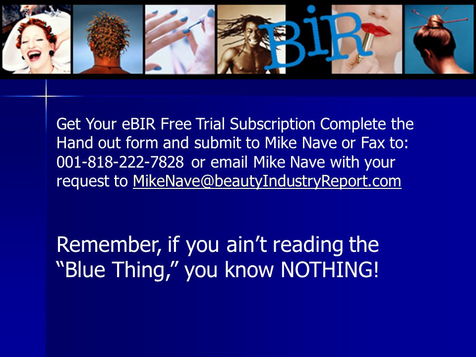Remember, if you ain't reading the Blue Thing, you know NOTHING!