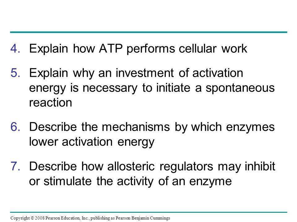 Explain how ATP performs cellular work