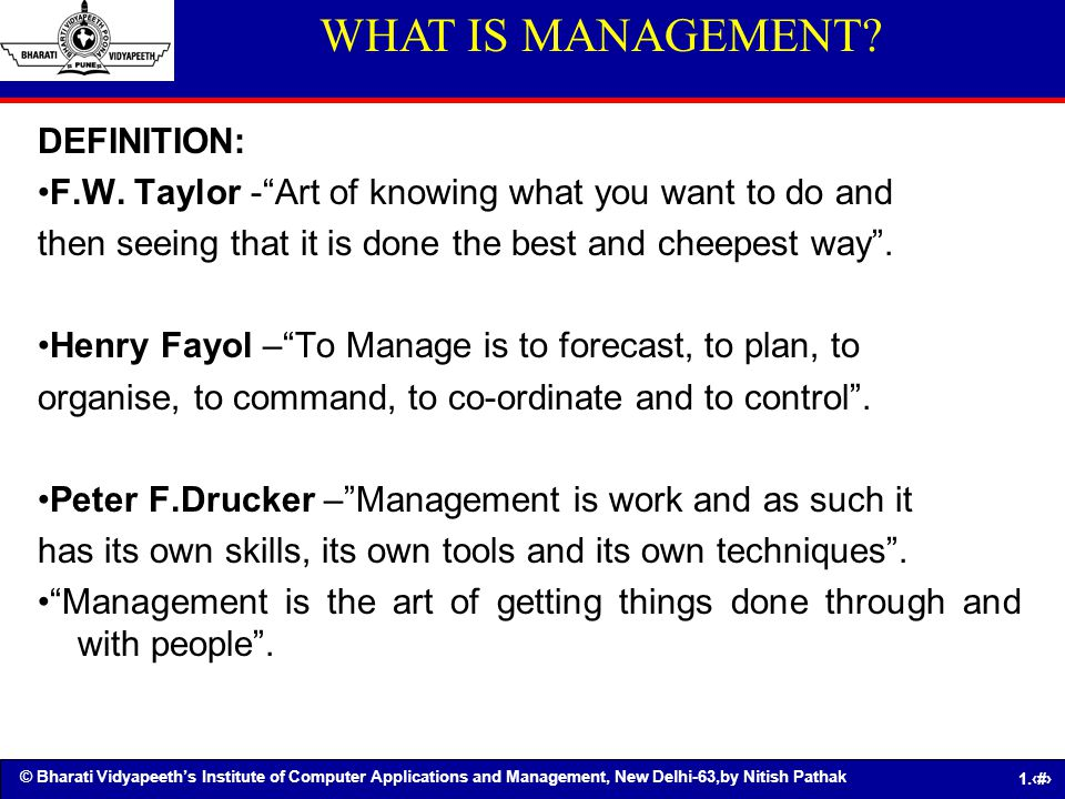 WHAT IS MANAGEMENT DEFINITION: