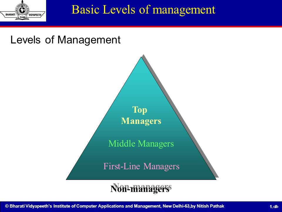 Basic Levels of management