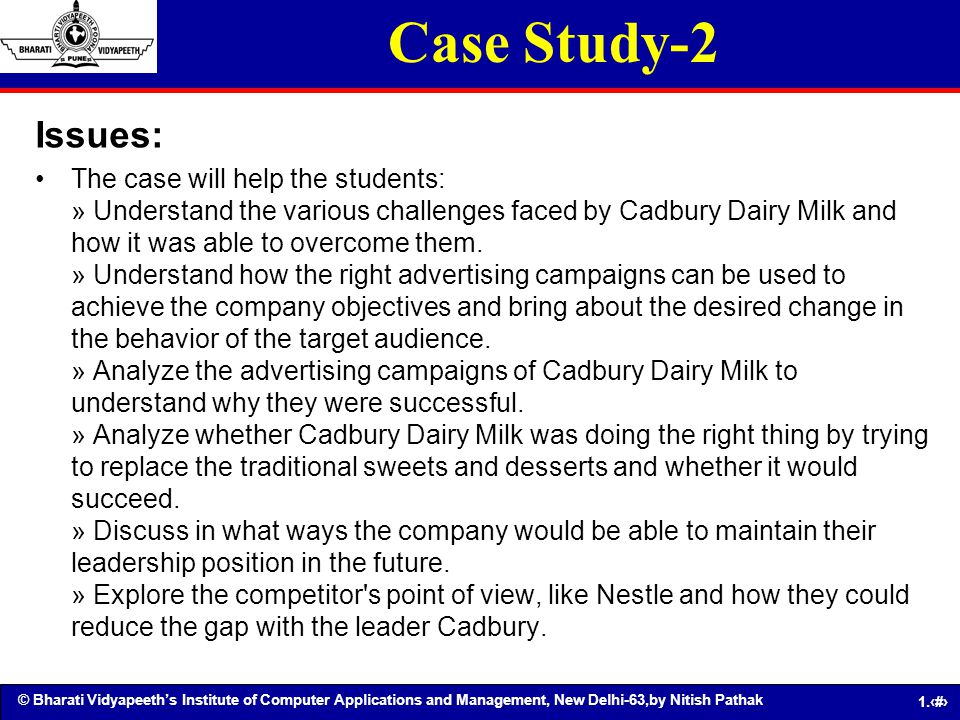 Case Study-2 Issues:
