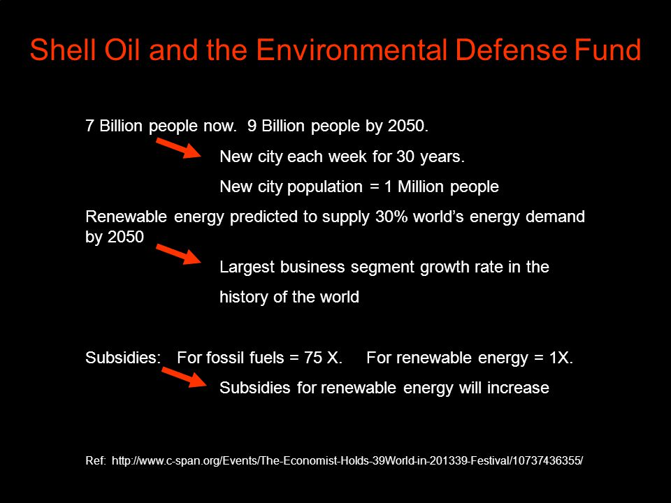 Shell Oil and the Environmental Defense Fund