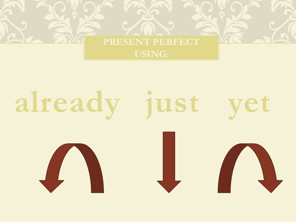 Present perfect using: