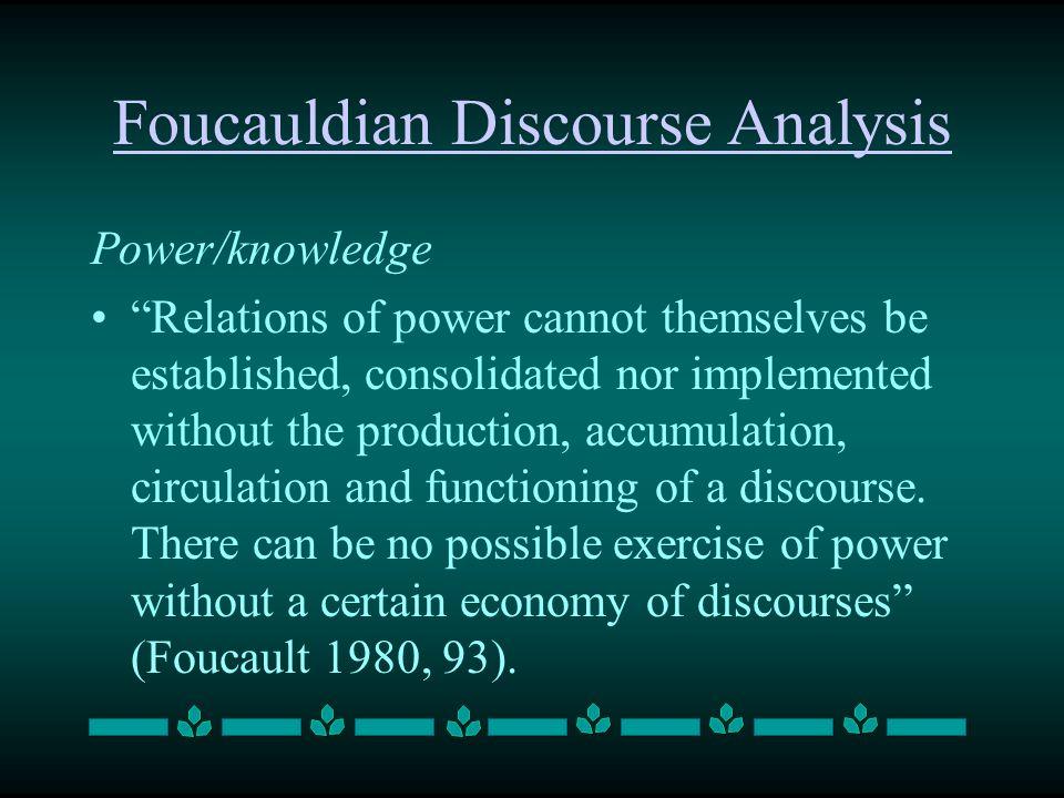 Foucauldian Discourse Analysis