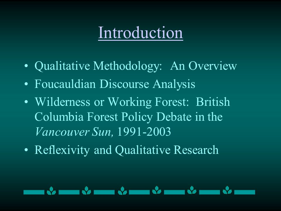 Qualitative Methods, Discourse Analysis and Media Research