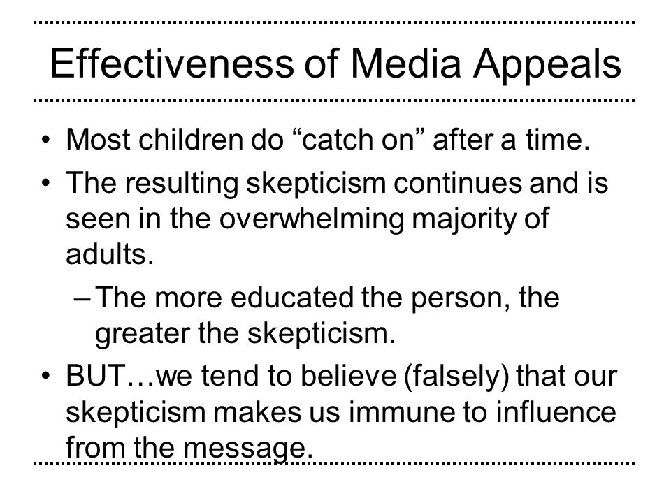 Effectiveness of Media Appeals