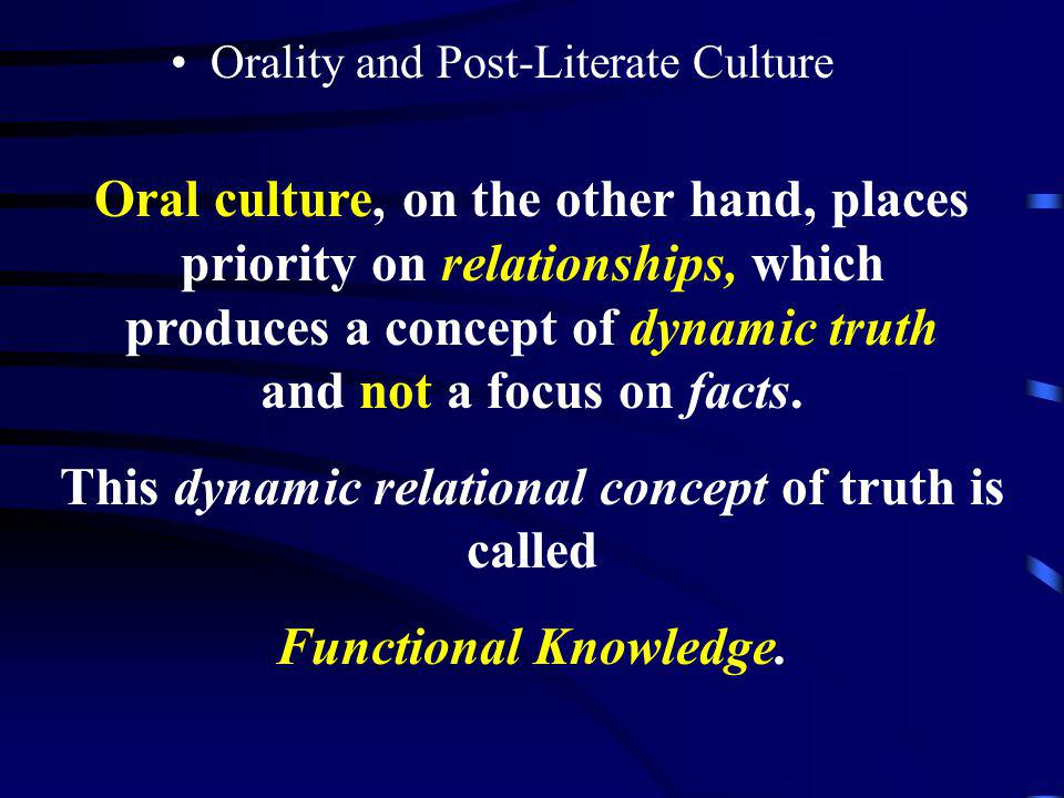 This dynamic relational concept of truth is called