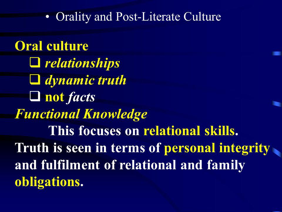 This focuses on relational skills.