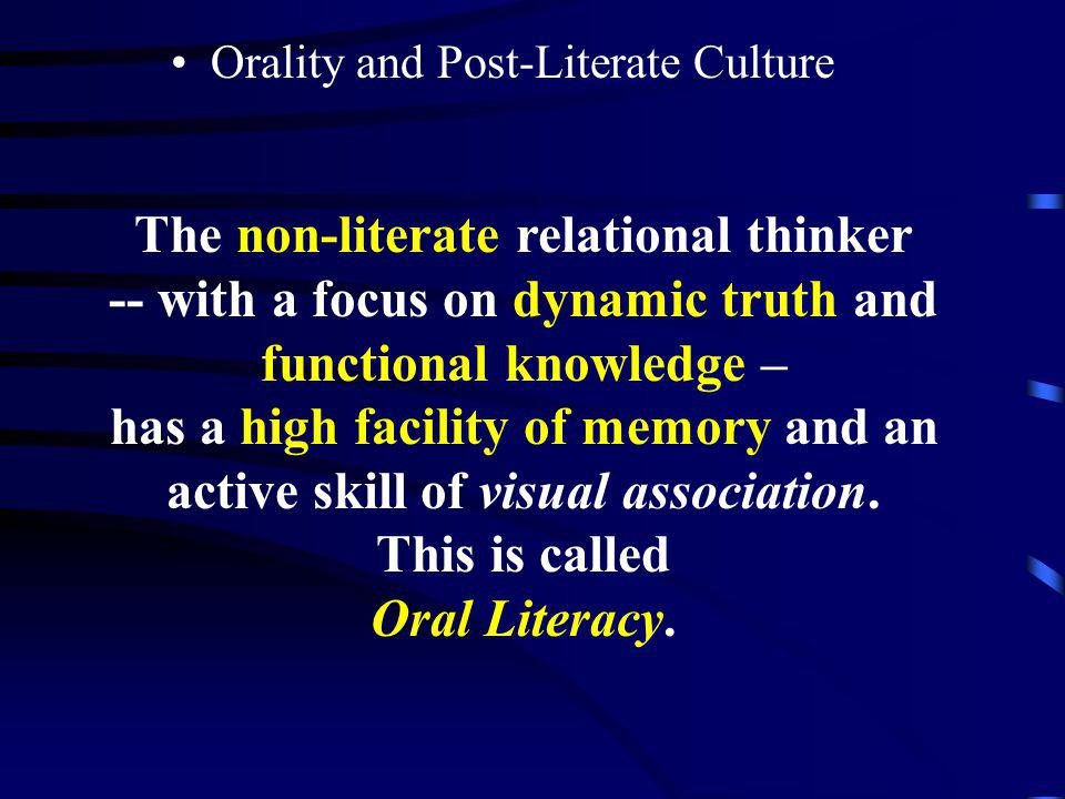 The non-literate relational thinker