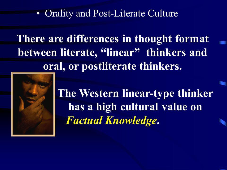 The Western linear-type thinker