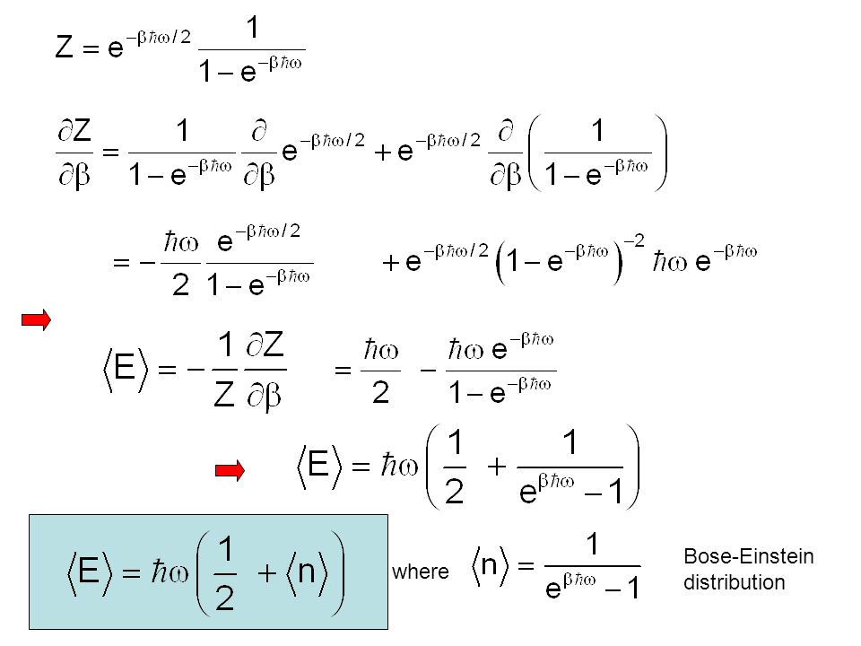 Bose-Einstein distribution where
