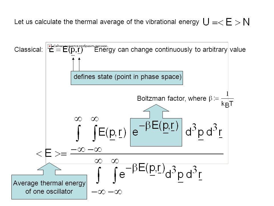 Average thermal energy