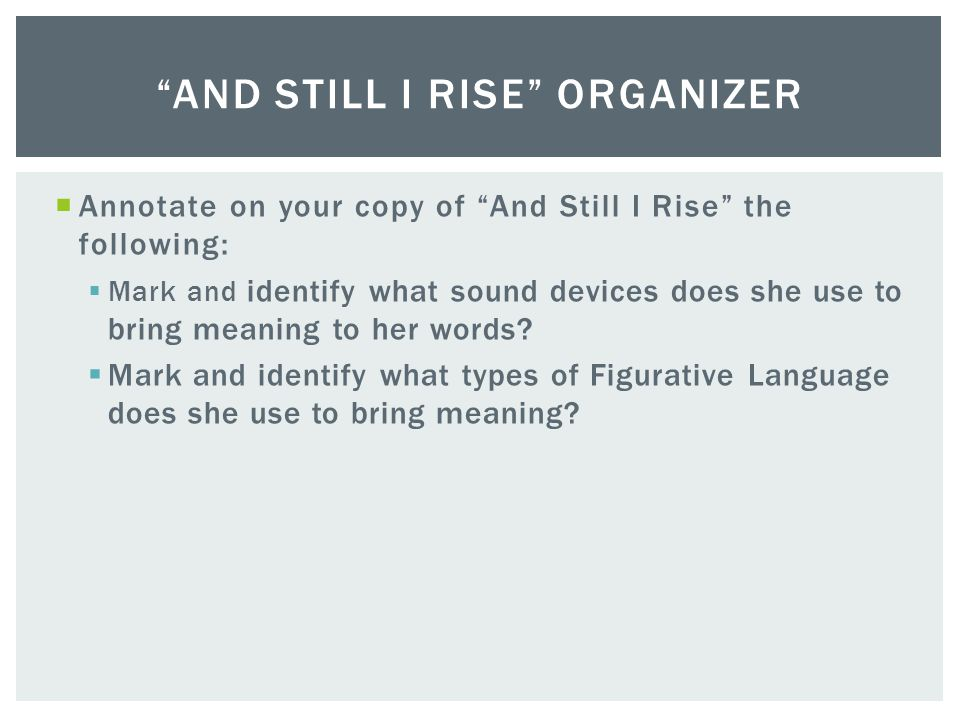 And Still I Rise Organizer
