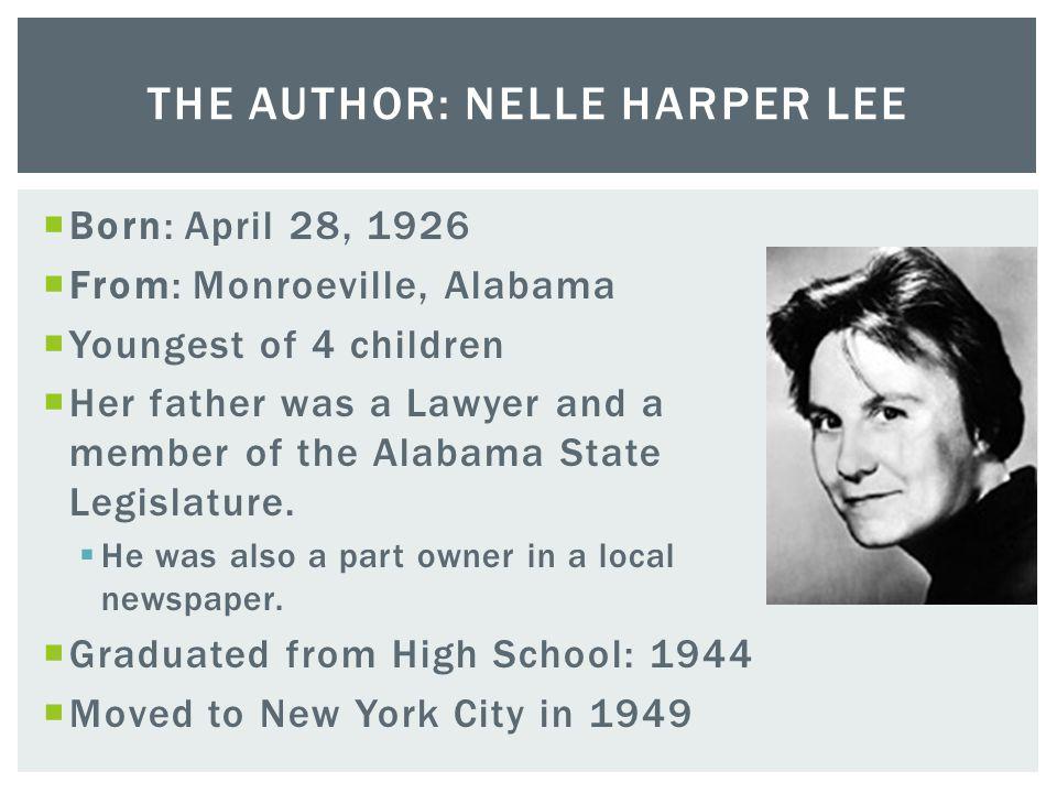 The Author: Nelle Harper Lee
