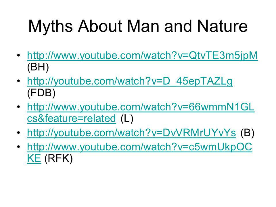 Myths About Man and Nature