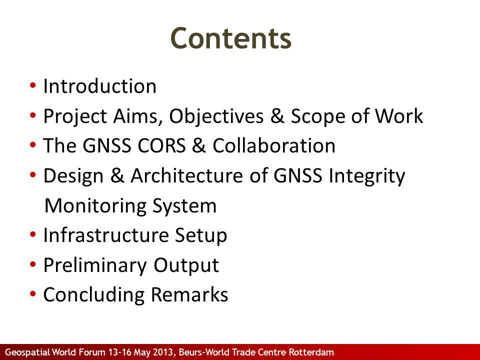 Contents Introduction Project Aims, Objectives & Scope of Work