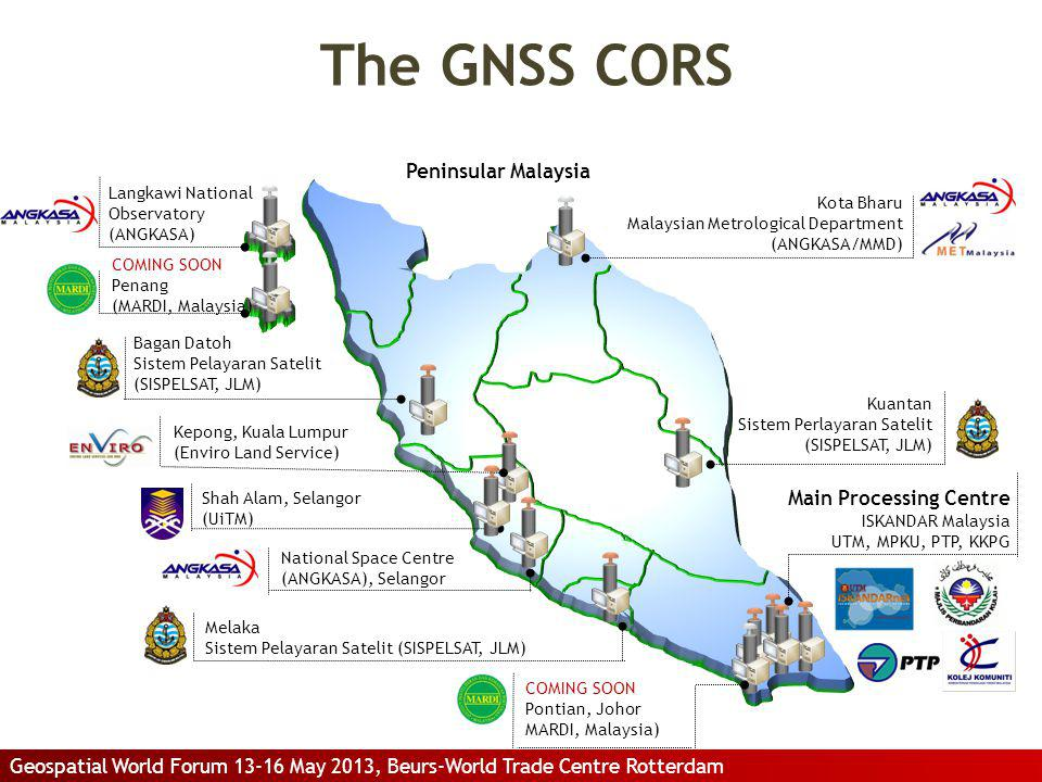 The GNSS CORS Peninsular Malaysia Main Processing Centre