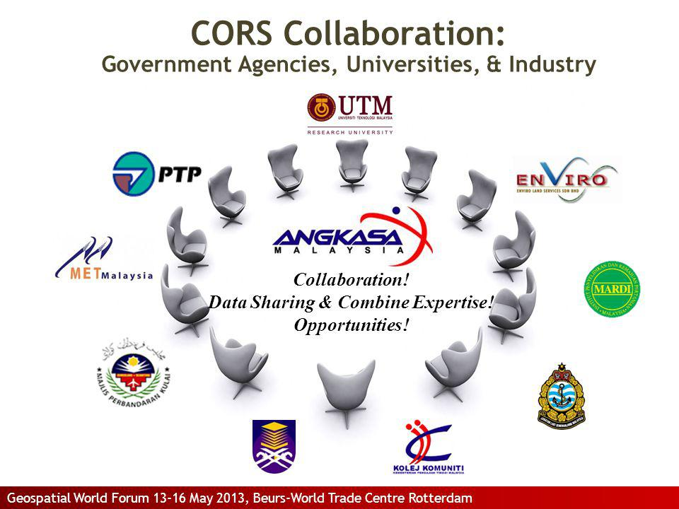 CORS Collaboration: Government Agencies, Universities, & Industry