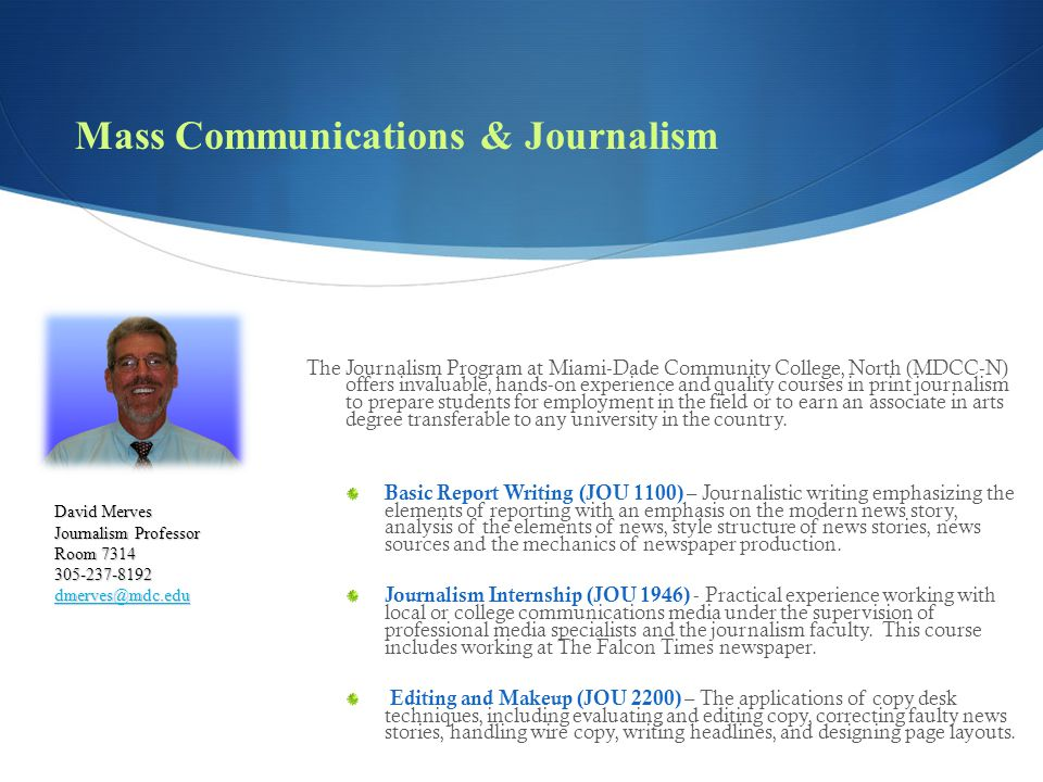 Mass Communications & Journalism