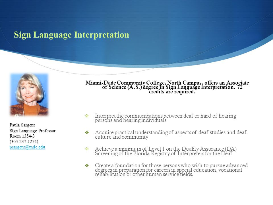 Sign Language Interpretation