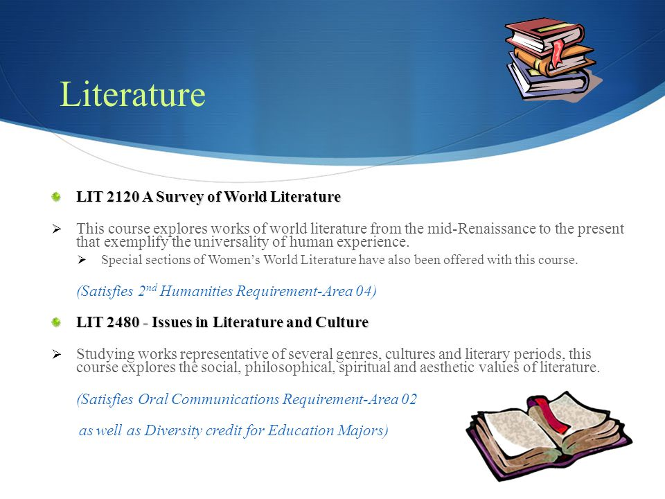 Literature LIT 2120 A Survey of World Literature