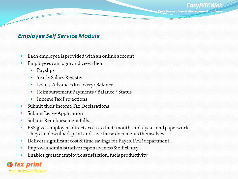 Employee Self Service Module