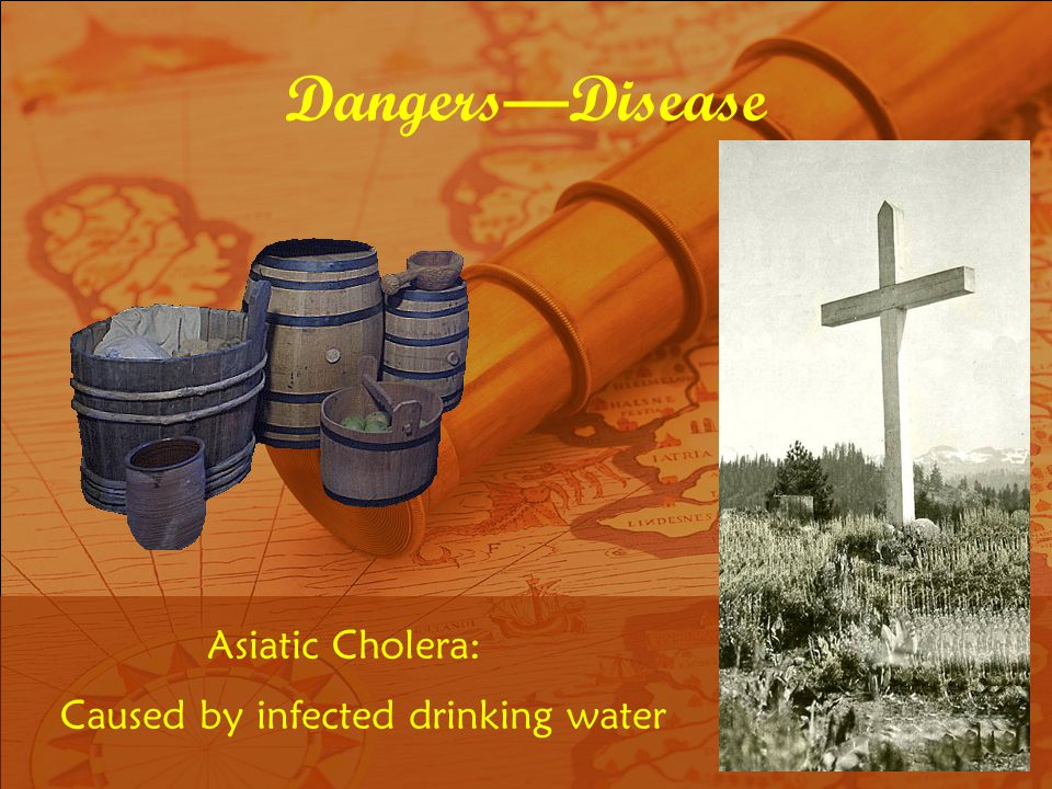 Caused by infected drinking water