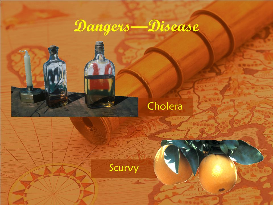 Dangers—Disease Cholera Scurvy