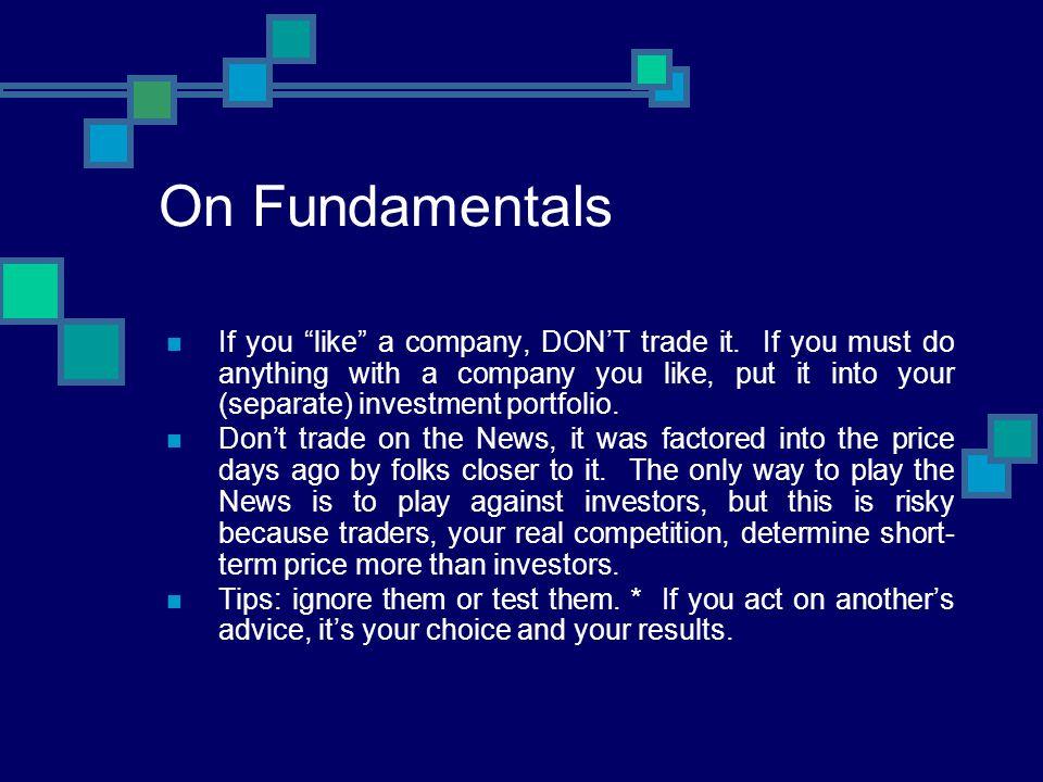 On Fundamentals