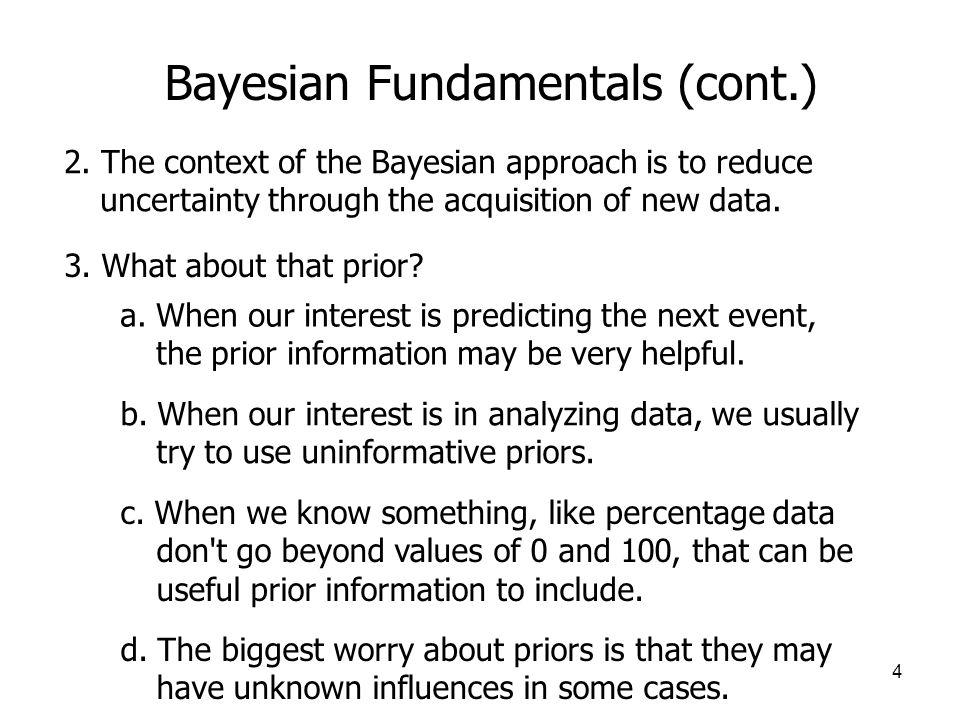 Bayesian Fundamentals (cont.)