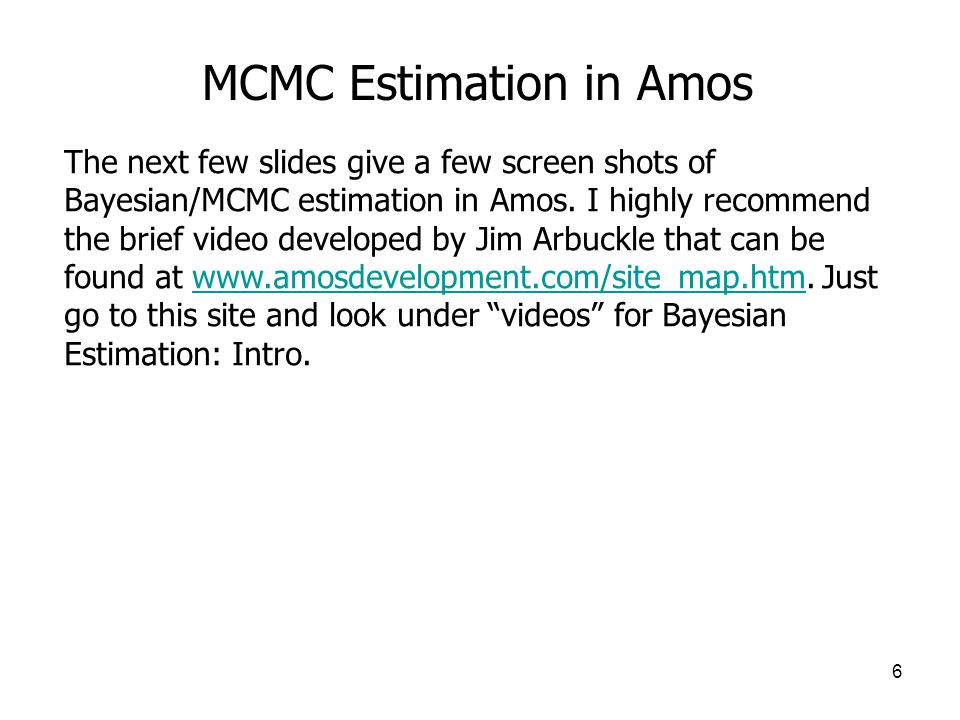 MCMC Estimation in Amos